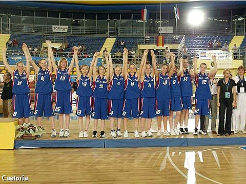 Winner of the Bronze Medal at the European Championship for U16 Girls 2004: Russia